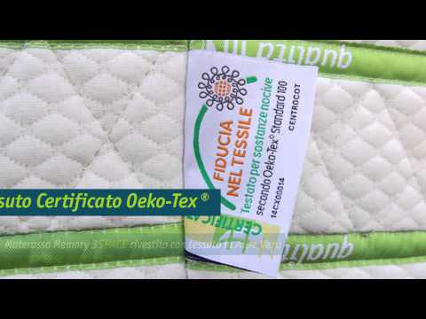 Materasso Memory sfoderabile Aloe Vera disponibile in memory da 22 o 24 cm