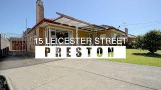 15 Leicester Street Preston