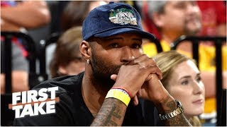 Lakers' DeMarcus Cousins suffers a possible knee injury   First Take