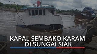 Kapal Sembako Karam di Sungai Siak, Ribuan Warga Ambil Mi Instan dan Biskuit