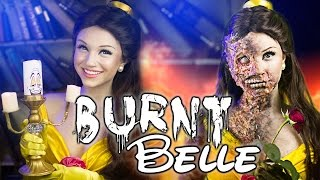 BURNT BELLE [Beauty And The Beast] Makeup Tutorial - Glam & Gore Disney Princess