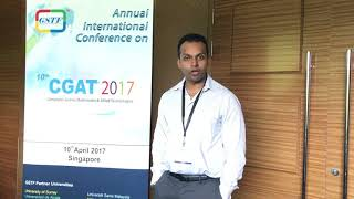Dr. Gautam Srivastava at CGAT Conference 2017 by GSTF Singapore