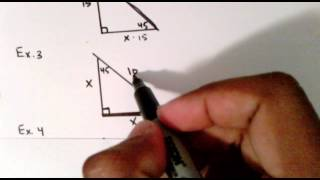 45-45-90 Triangle Examples
