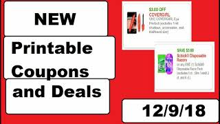 New Printable Coupons and DEALS!- 12/9/18