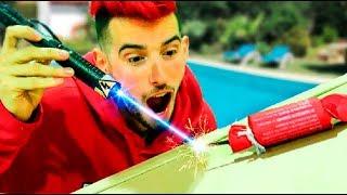 LASER VS PETARDO GIGANTE !! (experimento) Makiman