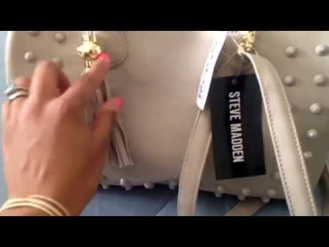 Purse haul :) Steve Madden purse… I'm starting to like his designs more and more