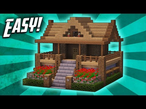 Minecraft: How To Build A Survival Starter House Tutorial (#7)