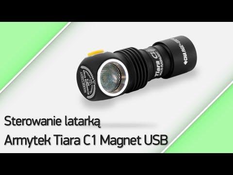 Sterowanie latarką Armytek Tiara C1 Magnet USB