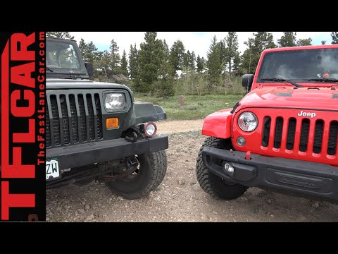 2015 Jeep Wrangler vs 1995 Wrangler: Old vs New Tech Off-Road Mashup Review