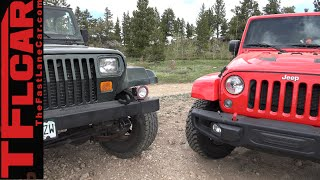 2015 Jeep Wrangler vs 1995 Wrangler: Old vs New Tech Off-Road Mashup Review