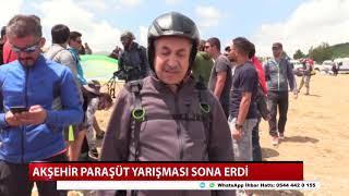 Akşehir paraşüt yarışması sona erdi