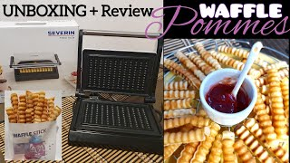WAFFLE STICK MAKER von SEVERIN || UNBOXING with REVIEW #severin #germany