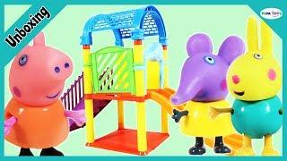 Unboxing Peppa Pig Amusement Park   Peppa Pig Family Fun Toy Set