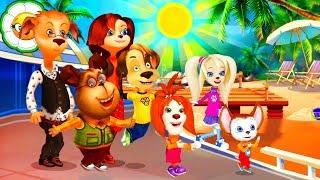 Барбоскины: Весёлые приключения #1 Семейное путешествие на Солнечный берег! Новая развивающая игра