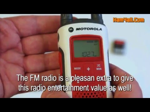 Motorola T480 FRS/GMRS Walkie-Talkie with FM radio review.