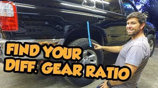 How do i find my differential gear ratio