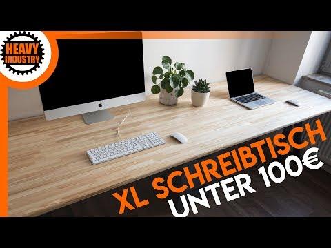 XL Schreibtisch für 100€ selber bauen (für Anfänger)