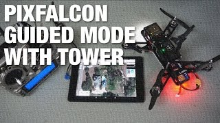 QAV 250 With Pixfalcon Telemetry And Guided Mode Using Tower For Android