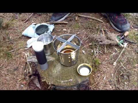 1 Euro Kocher / Feuertopf / Grilleimer / Hobo / one buck multifuel stove by INISCH