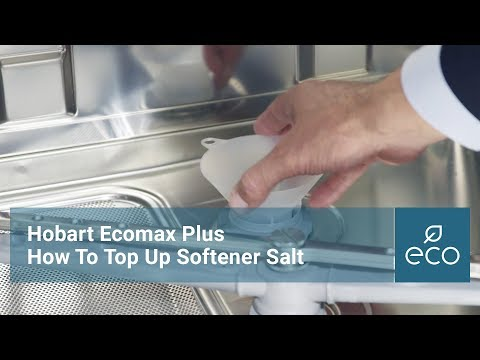 How To Add Salt to the Water Softener on the Hobart Ecomax Plus Range