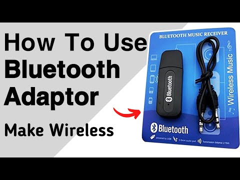 Bluetooth stereo adapter / music receiver in HINDI / हिंदी
