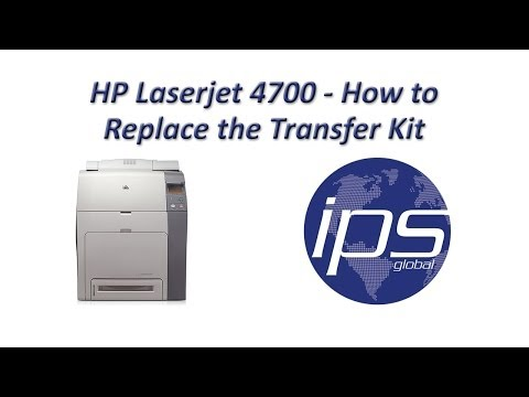 HP 4700 - How To Replace The Transfer Kit Updated Mp3