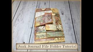Junk Journal File Folder Tutorial, Junk Journaling for Beginners, Easy Junk Journal Tutorials