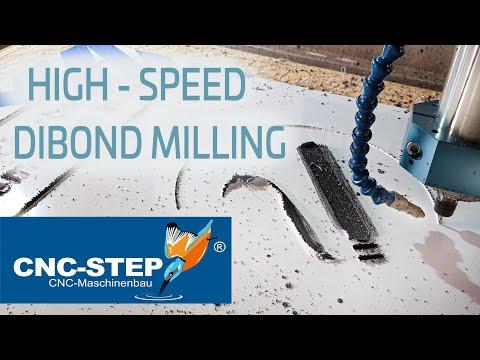 High Speed CNC Machining - Milling Aluminium Dibond