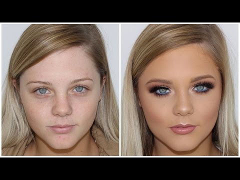 Full Coverage Glam Makeup Tutorial ♡ Pop of Blue ♡ Jasmine Hand