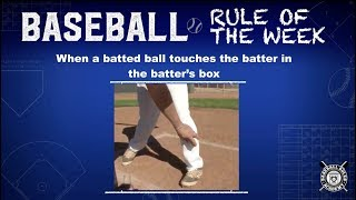Batted Ball Touches Batter In Batter's Box