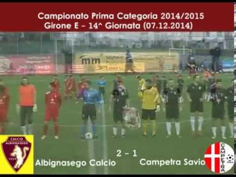 immagine di anteprima del video: ALBIGNASEGO - CAMPETRA S. 2-1 (07.12.2014)