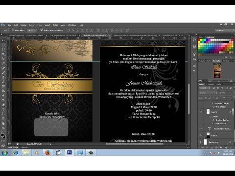 Video cara desain sendiri surat undangan pernikahan