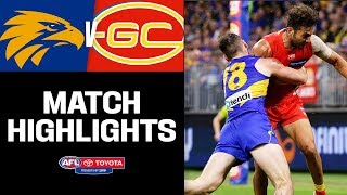 Tight Tussle Between The Coasts | West Coast V Gold Coast Highlights | Round 7, 2019 AFL