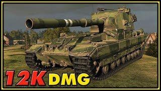 FV215b (183) - 12K Damage - World of Tanks Gameplay