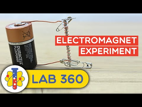 How to Make Electromagnet Experiment - HooplaKidzLab