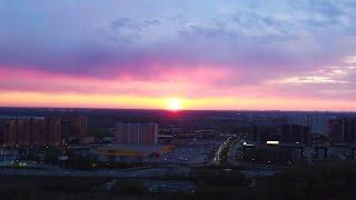 Панорамная видео-съемка 360 градусов - Закат
