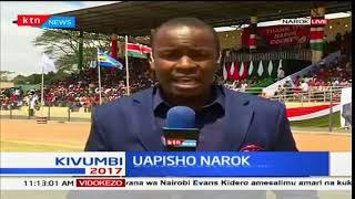 SWEARING-IN: Governor Ole Tunai was sworn in as the Narok County boss
