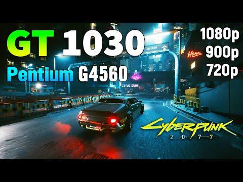 1030 2GB + Pentium G4560 測試 電馭叛客2077
