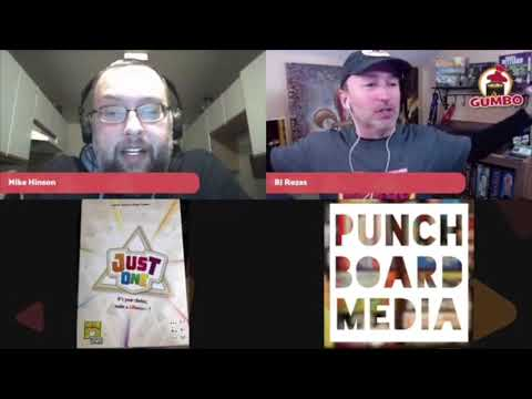 Gumbo Live! with Mike Hinson of Elk Creek Games talking Just One