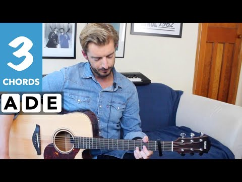 Common People EASY Beginners Guitar lesson (Pulp) Play 10 guitar songs with 3 EASY chords