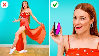 AWESOME CLOTHES HACKS FOR GIRLS || Life Hacks To Overcome Clothing Fails!