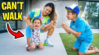 OUR BABY CAN'T WALK.. 💔 | The Royalty Family