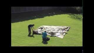 Vango Airbeam Tent Inspire / Eclipse pitching in real time