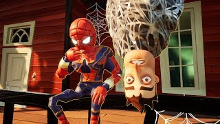 MY NEW NEIGHBOR IS SPIDERMAN - Hello Neighbor Iron Spider-Man Mod