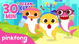 Mix - Baby Shark in the City 🏙  and more   Nursery Rhymes   Pinkfong Songs for Children
