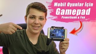 Mobil PUBG Oynamayı Kolaylaştıran Aparat! ÇOK İYİ!! (Gamepad+Powerbank+Fanlı Soğutma)