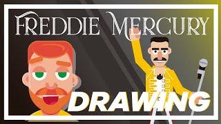 HOW TO DRAW FREDDIE MERCURY - DIGITAL ART