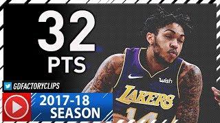 Brandon Ingram Full Highlights vs Warriors (2017.11.29) - Career-HIGH 32 Pts against KD!