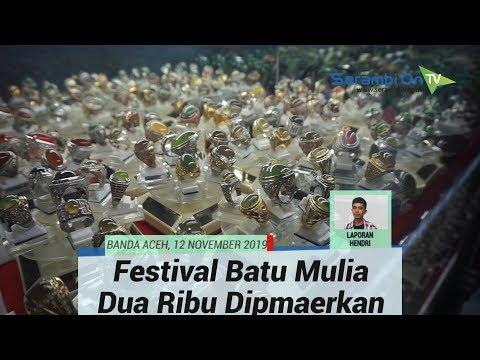 Dua Ribuan Batu Berbagai Jenis Tampil di Festival Batu Mulia Aceh