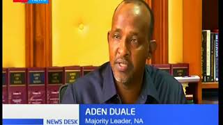 Majority leader Aden Duale promises to reignite the war against draft as Parliament resumes